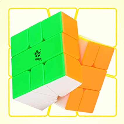 Alician 3x3x3 Unique Colorful Magic Cube Puzzle Toy for Student Kids