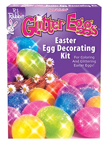 Fun World BB1754C Glitter Eggs Easter Egg Decorating Kit -Each