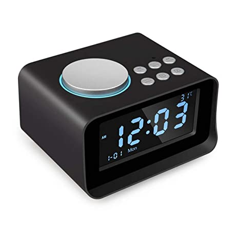 Lorenlli K6 Radio Despertador Digital Puerto Dual del ...