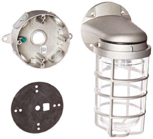 Sconce Porcelain Brass (RAB Lighting VXBR100DG-3/4 Vaporproof VXBR 4