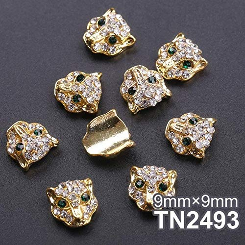 Nails Art Accessories - Nail Art Supplies Nail Rhinestones And Charms 10pcs 3D Nail Decorations DIY Glitter Rhinestones Animals Alloy Pearl Studs Nails Design Nail Accessoires - Style 3 -