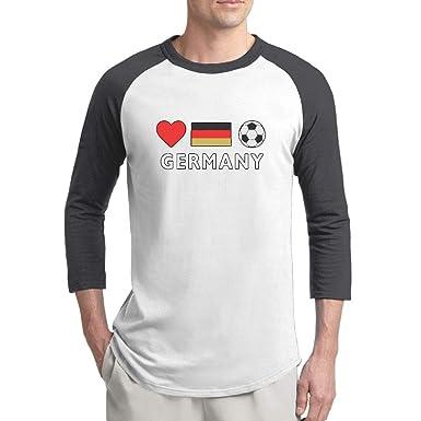 631fc931b91 Amazon.com  JP94MAN Germany Football German Soccer Men s Print Crewneck 3 4  Sleeve Baseball Raglan Shirts Soft Cotton Top Shirt  Clothing