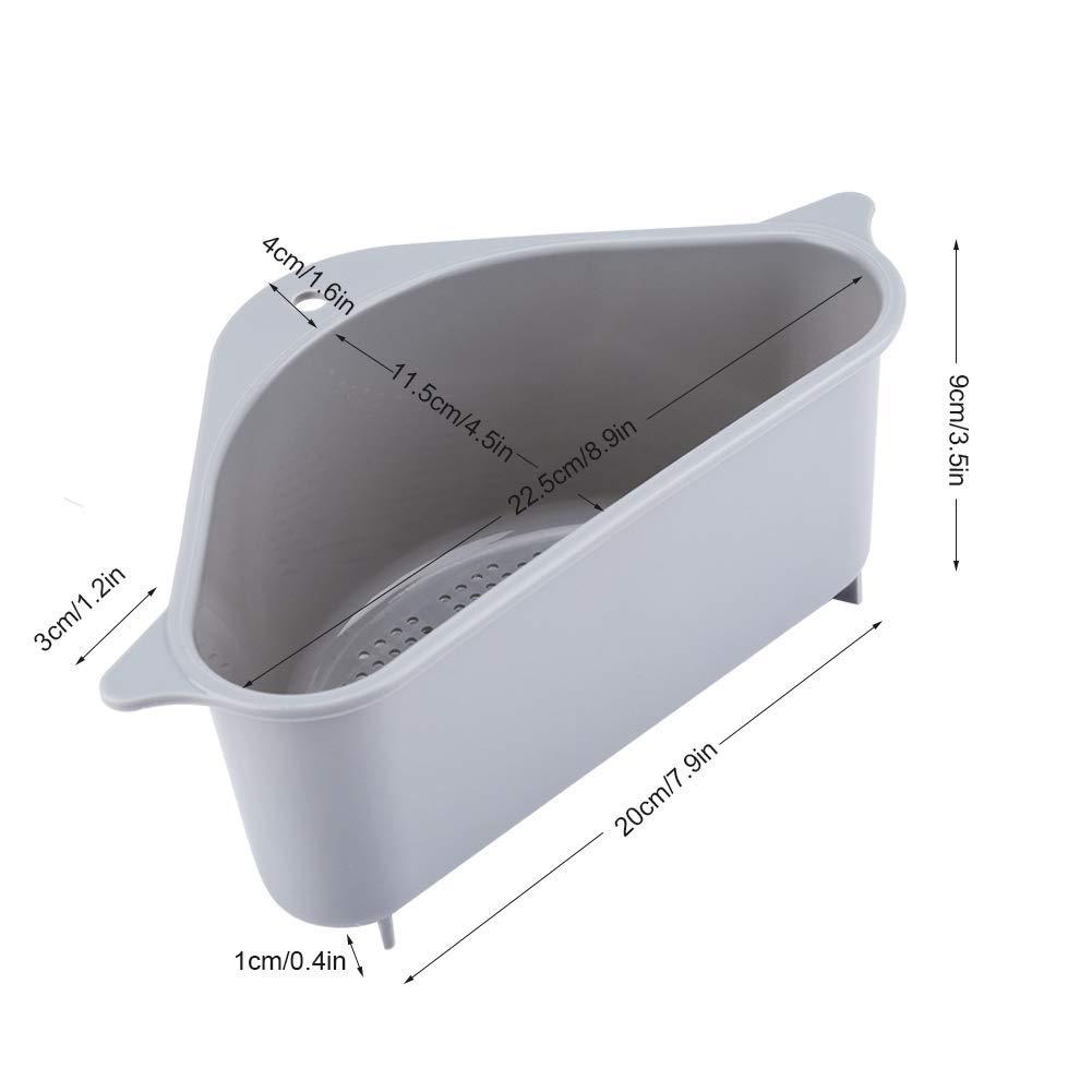 Cesta de fregadero soporte de almacenamiento triangular Estante de drenaje multifuncional Sucker Sink Storage Rack Drain Rack Rack Organizador para cocina Ba/ño Blau