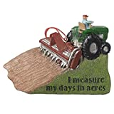 I Measure My Day In Acres Farmers Christmas Ornament
