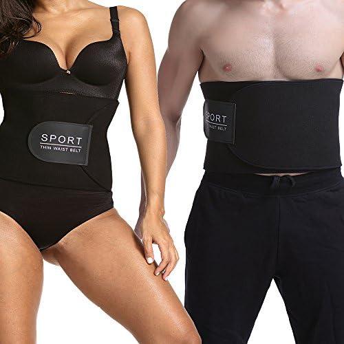 Happy Shopping Sauna Belt,Waist Trimmer Belt For Weight Loss Fat Faster Adjustable Sauna Burn Belly Fat for Men Womens Black