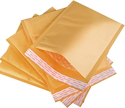 100 #0 Extra Wide Kraft Bubble Padded Envelopes Mailers 6.5x10 Inner 6.5x9