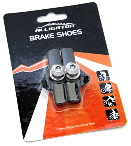 Campy Brake Cable (Alligator Bike Road Brake Cartridge Compatible Shoes Pads with Campy Campagnolo Brake, Black)
