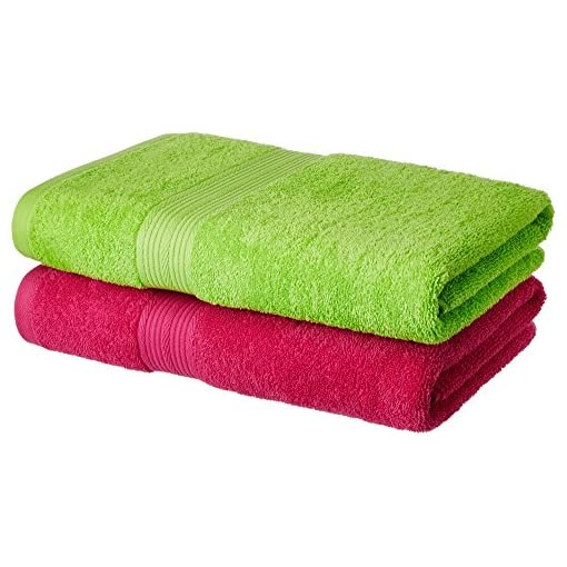 Solimo 100% Cotton 2 Piece Bath Towel Set, 500 GSM (Spring
