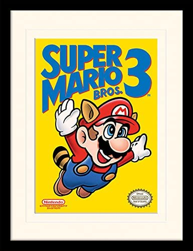 Super Mario Bros 3 Art Framed /& Mounted Print