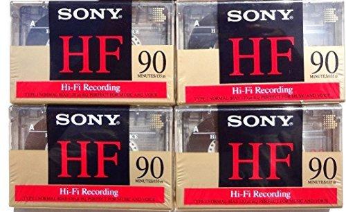 Sony Hf 90 Minutes Hi-fi Recording Type I Cassette Tape (4 Pack)