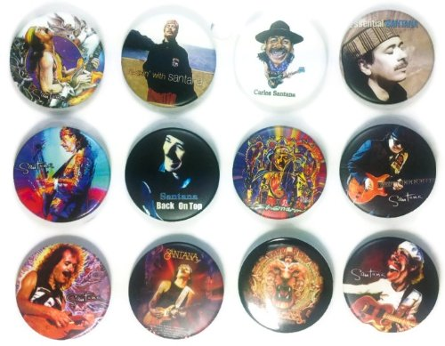 Carlos Santana (2) Awesome Quality Lot 12 New Pins Pinback Buttons Badge 1.25