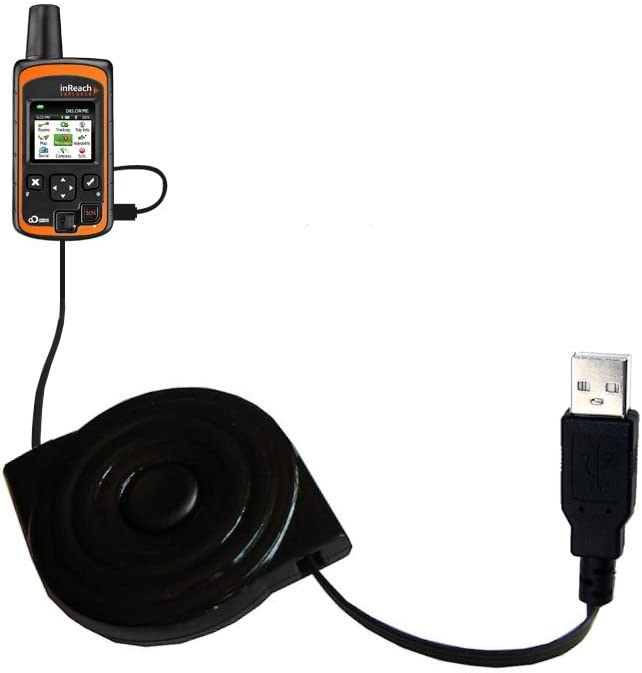 compact and retractable USB Power Port Ready charge cable designed for the DeLorme InReach Explorer and uses TipExchange