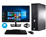Computers Best Deals - DELL Optiplex 780 Windows 10 Desktop Computer Bundle ~ Intel Core 2 Duo 3.0GHz ~ 8GB RAM ~ 250GB HDD ~ With Brand New 19.5 Inch LED Monitor