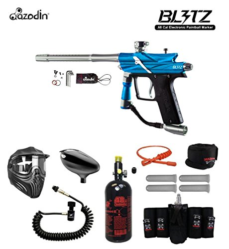 MAddog Azodin Blitz 3 Electronic Elite Remote HPA Paintball Gun Package - - Sports 4+3 Harness Zephyr