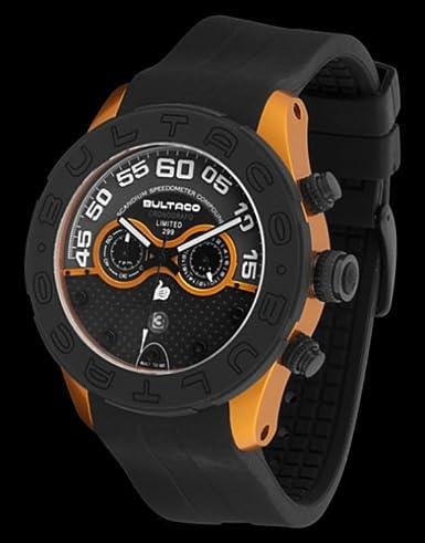 Bultaco H1So48C-Sb2 - Reloj Scandium Limited Caja Correa Silicona Naranja: Amazon.es: Relojes