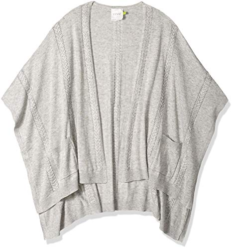 Lyssé Women's Charlotte Sweater Wrap, Heather Grey, O/S ()