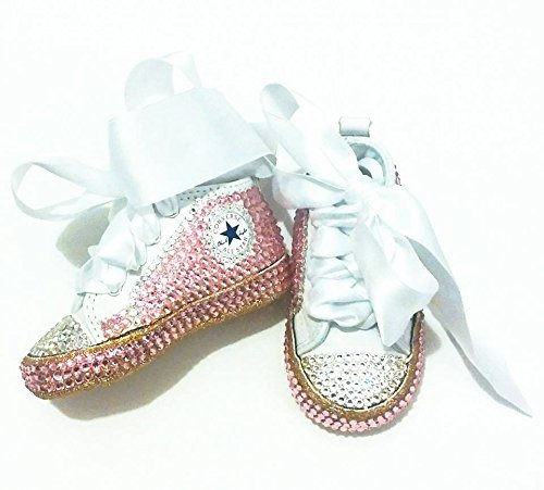 ... coupon code for pink and gold baby girl converse shoes pink and gold  baby shoes baby 4009a49ed