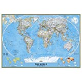 "best world map wall murals National Geographic 9'2""x6'4"" Classic World Map Mural"