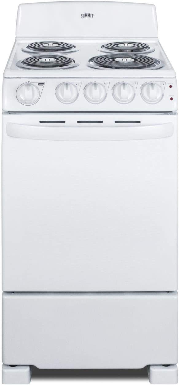 Summit RE203W 20 Inch Wide 2.3 Cu. Ft. Free Standing Electric Range