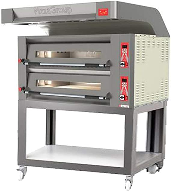 Horno Doble Flame 9 + 9 de gas pizzas con Cubierta, carrito y accesorios: Amazon.es: Grandes electrodomésticos