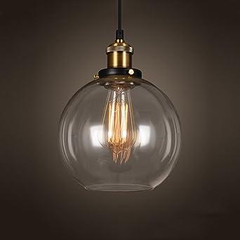 Erstaunlich Amerikanische LOFT Retro Industrielle Transparente Glas Hängende Lampe  Kreative Hohe Qualität Hohe Helligkeit E27 Edison