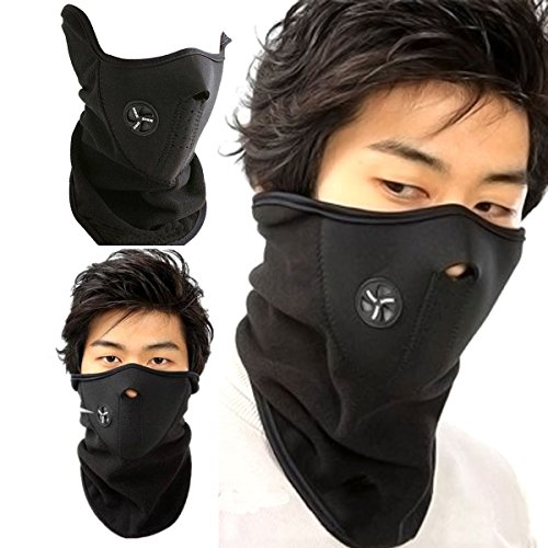 Wash Mild Face - TraAcc Anti Dust Pollution Motorcycle Face Mouth Mask Ski Masks neck worm Winter Cold Weather Half Face Mask for Motorcycles, Bicycle, Skiing, Running,Mountain Climbing (Black)
