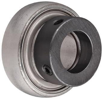 SKF YET-2 Series Ball Bearing Insert, Eccentric Collar, Contact Seals,  Chrome Steel