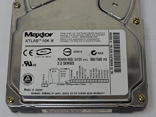 Maxtor 36GB SCSI 68 Pin 10Krpm 3.5in HDD (KW36L015)