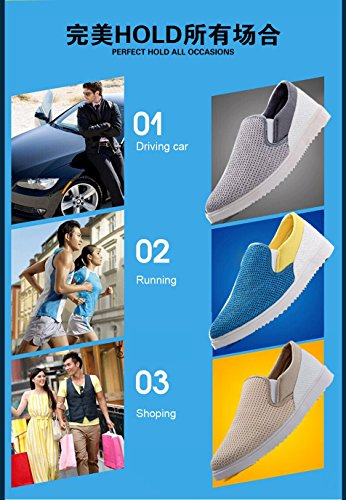 Gaorui mens boys slip on soft mesh shoes breathable outdoor sport shoes casual driving walking running sneakers Beige 35FncvW