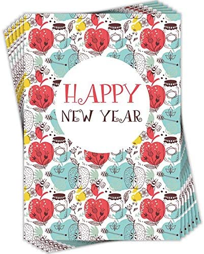 Pack of 6 Jewish New Year Cards with EnvelopesHappy New Year