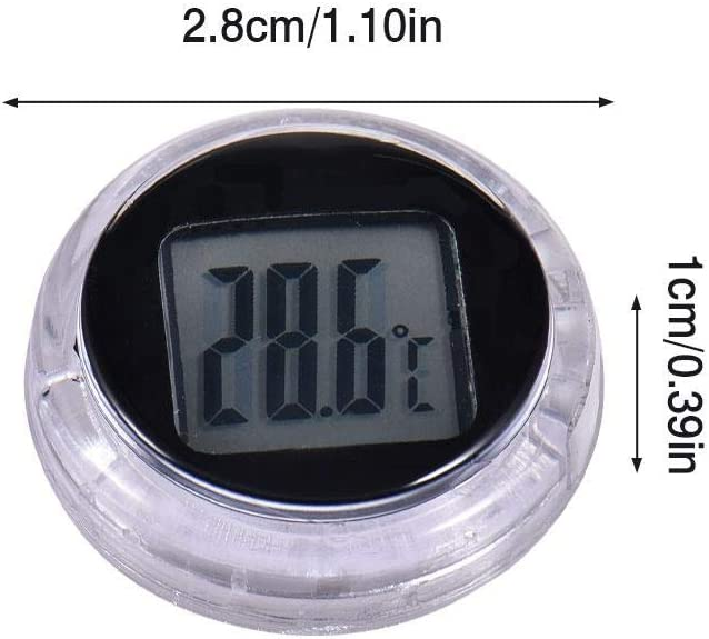 Rainai Mini Hygrometer Thermometer Fahrenheit or Celsius Meter Digital LCD Monitor Indoor Room Round Humidity Temperature Gauge for Humidors Home Greenhouse Babyroom Reptile Incubator