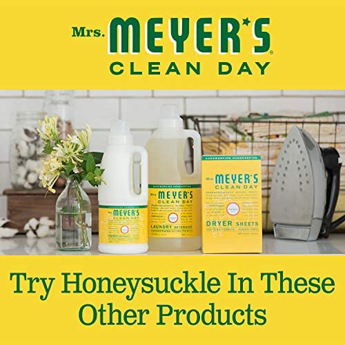 Mrs. Meyer's Clean Day Multi-Surface Everyday Cleaner, Cruelty Free Formula, Honeysuckle Scent, 16 oz- Pack of three