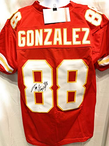- Tony Gonzalez Kansas City Chiefs Signed Autograph Red Custom Jersey JSA Witnessed Certified