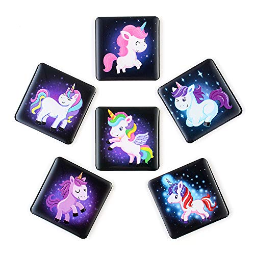 (MORCART Fridge Magnets Set Cute Cartoon Unicorn Refrigerator Magnets 6 Packet Best Home Decorations Gifts,-1.7 X 1.7 inch (unicorn))