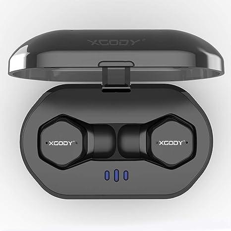 Xgody F8 - Auriculares inalámbricos inalámbricos, auriculares inalámbricos para coche con micrófono y caja de