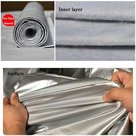 アウディS4リムジンアウトドアカーカバーSnowproof耐凍害性日焼け止め防雨オールウェザーカーの保護のフルカバーと互換性がプラスベルベットカーカバー (Color : Silver)