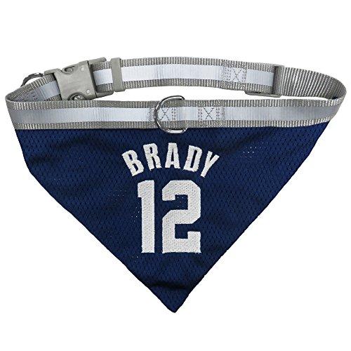 NFL NFLPA DOG BANDANA - TOM BRADY #12 Pet BANDANA NEW ENGLAND PATRIOTS Adjustable & Reflective Bandanna, Medium