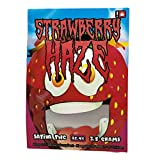 STRAWBERRY HAZE Stickers & Mylar Barrier Bag - 3.5 GRAM - Heat Sealable - (Zip Lock Canna Bags, Billy Kimber, Paris OG) (50)