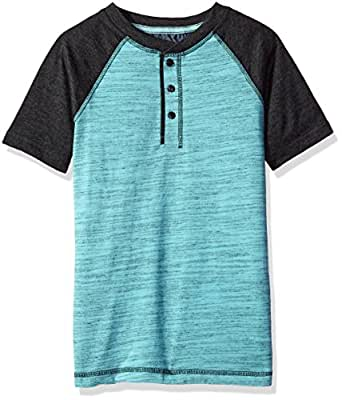 Lee Big Boys' Cowboy Henley, Aqua, S