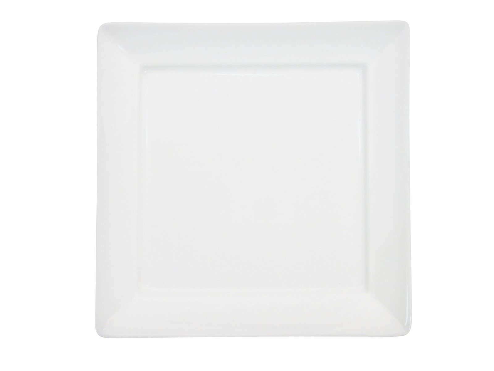 CAC China F-SQ6 Paris-French Square 6-Inch New Bone White Porcelain Thin Square Plate, Box of 36