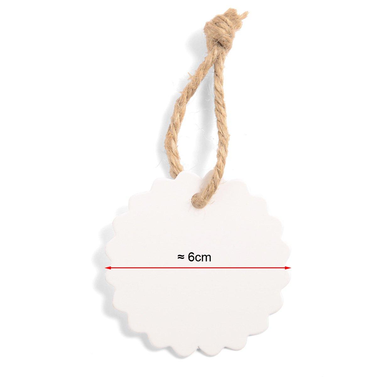 Precio Etiquetas Nombre tarjetas Precio Cartel * env/ío desde Alemania 100/x blanco redondo regalo colgante papel colgante colgantes etiquetas anh/ängee tiketten con hilo Gift Tags Labels para dise/ñar Incluso envolver