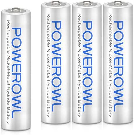 AAA Rechargeable Bateries, Powerowl Rechargeable AAA Batteries 1000mAh High Capacity 1.2V NiMH Low Self Discharge Rechargeable AAA Battery (AAA 4 Pack)