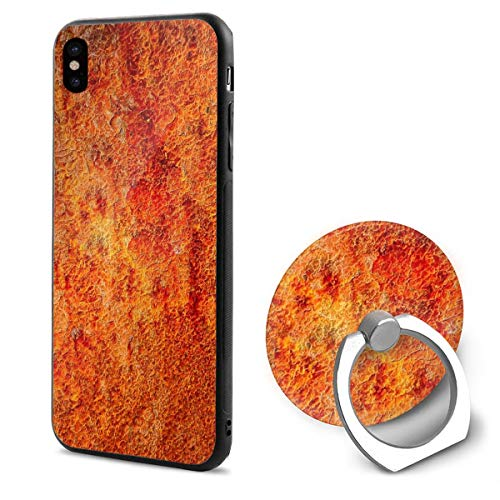 Burnt Orange Compatible with iPhone X Case Soft TPU Slim Cover with Ring Holder Stand for iPhone