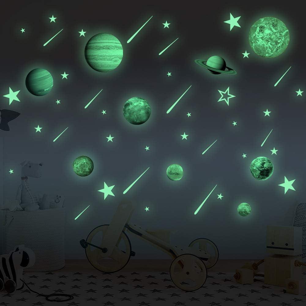 *CHEAP* GLOW IN THE DARK STAR STICKERS Decal Kids Nursery Solar System Decor