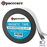 SPACECARE Magnetic Tape 1'' x 10 Feet Incredibly Strong & Flexible - Peel & Stick Adhesive Backing - Easy to Cut - Strong Magnet Flux