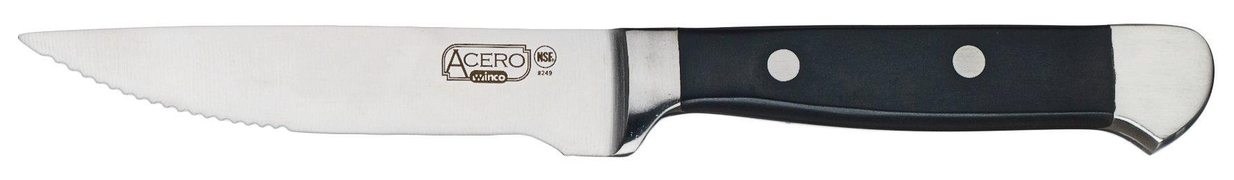 Winco SK-12 12 Piece Bulk Pack Acero Gourmet Steak Knives