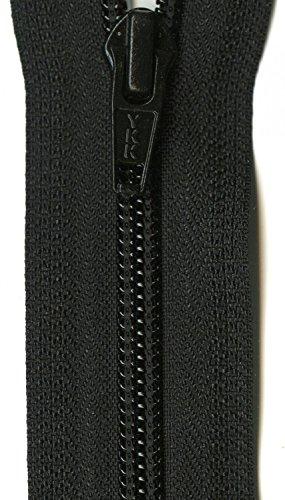 "YKK Ziplon 1-Way Separating Zipper, 20"", Black"