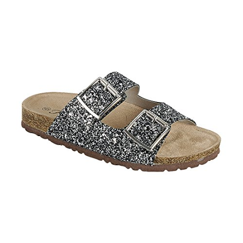Image of Forever Women's Sparkle Glitter Slip On Casual Sandals