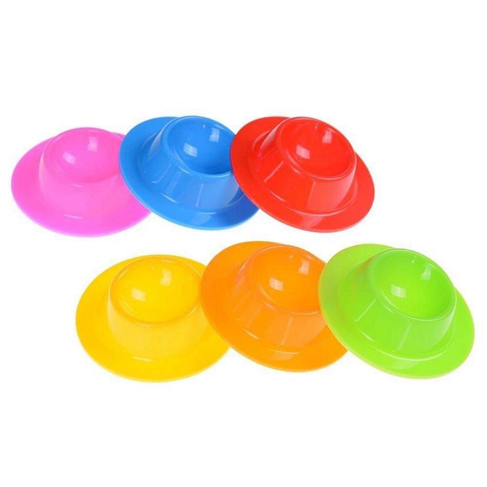 TOOGOO 6 Pezzi dell'uovo del silicone titolari Coppe piastra Montaggio Stand, bracconieri dell'uovo bracconieri dell' uovo