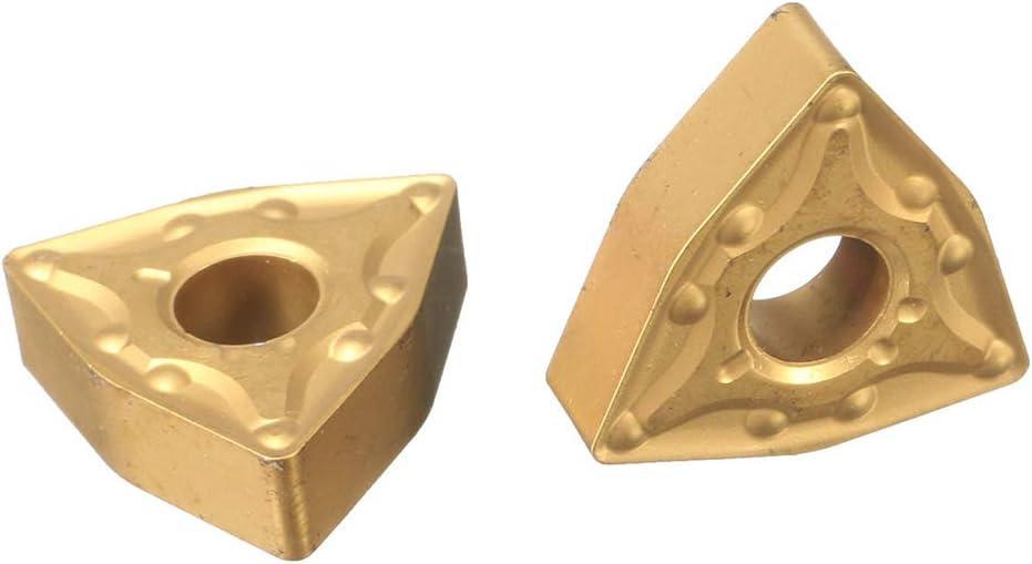 Set Karbid-Eins/ätze Fit CNC Schneid Externe Drehwerkzeug WNMG0804 WNMG432 Karbid-Eins/ätze BeIilan 10Pcs
